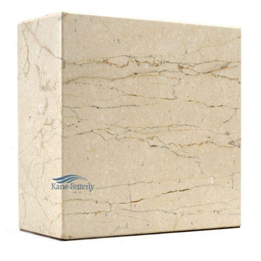 U6032 Beige natural marble urn