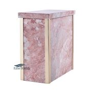 Pink marble urn