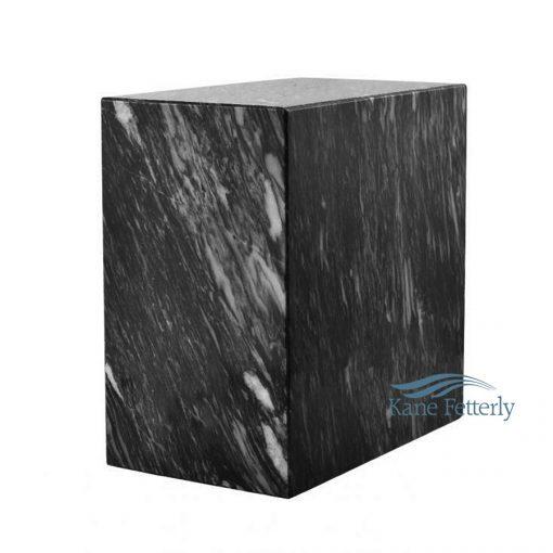 Dark grey natural marble urn