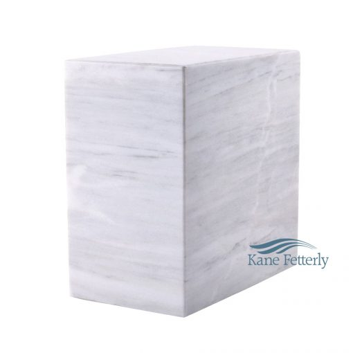 White natural marble urn
