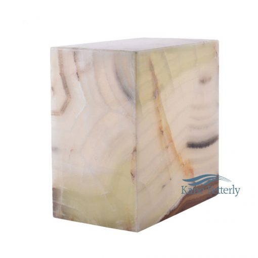 Natural onyx marble urn