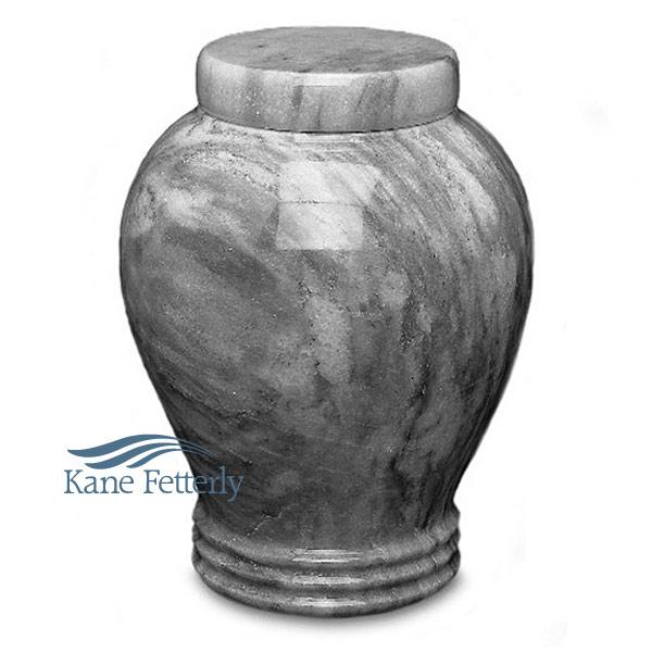 U6403 Grey natural marble urn