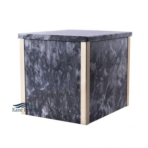 Grey marble double urn