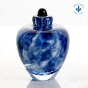Blue glass miniature urn