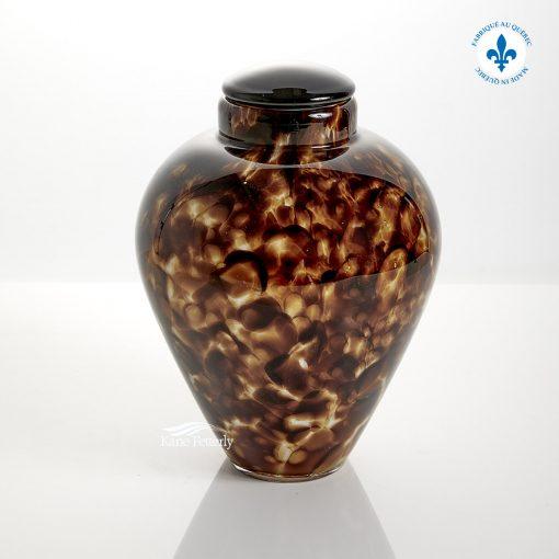 Hand-blown glass urn