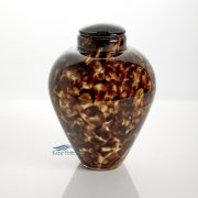 Hand-blown glass urn
