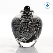 Hand-blown glass miniature urn
