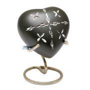 U84001H - Aluminum heart miniature urn