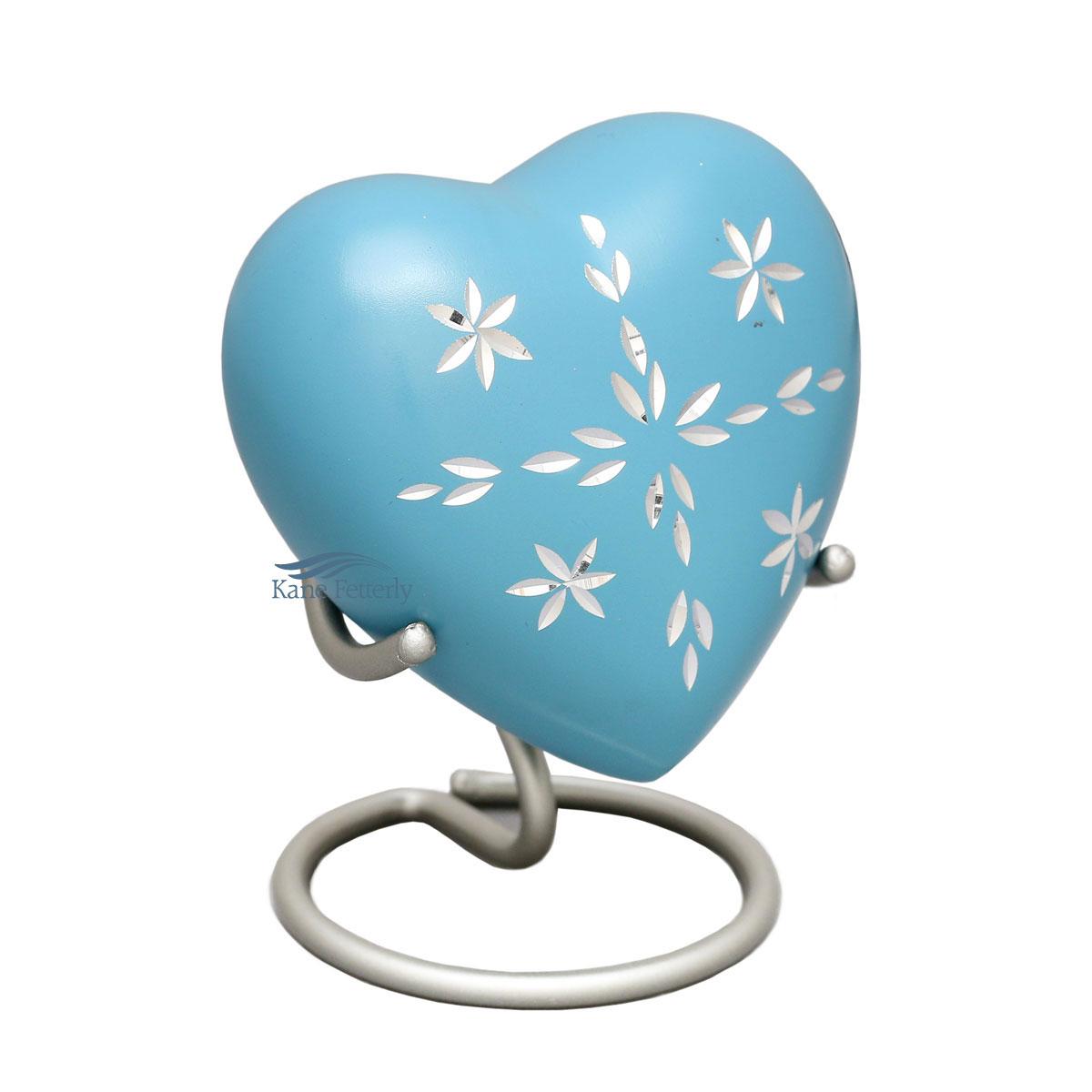 U8403H Aluminum heart miniature urn
