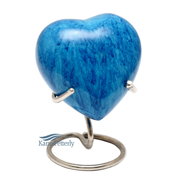 U8405H Sky blue heart miniature urn