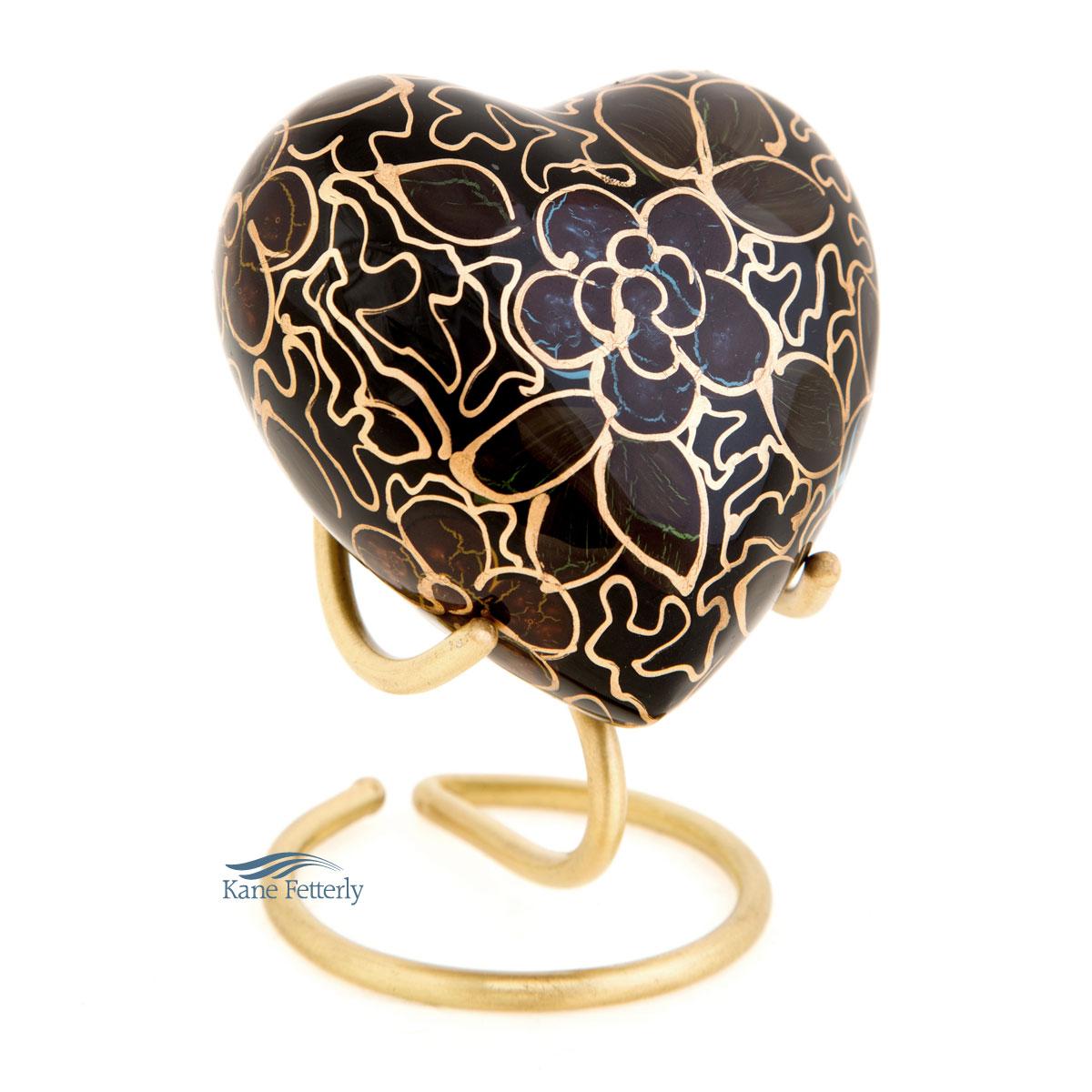 U8425H Aluminum heart miniature urn