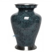 Dark grey aluminum urn with marble finish