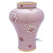 Pink cloisonné urn