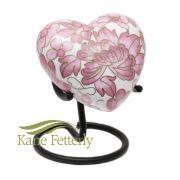 U8583H Cloisonné Heart Miniature Urn