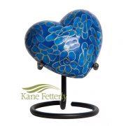 U8584H Cloisonné Heart Miniature Urn