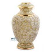 Beige cloisonné urn