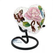 U8586 Cloisonné Heart Miniature Urn