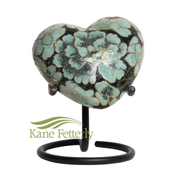 U8588H Cloisonné Heart Miniature Urn
