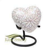 U8595H Cloisonné Heart Miniature Urn