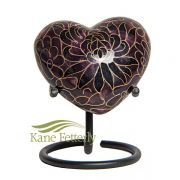 U8596H Cloisonné Heart Miniature Urn
