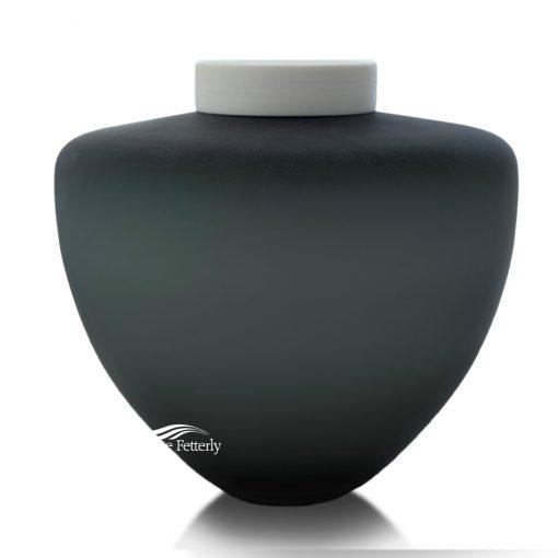 U8233 Grey blown glass urn