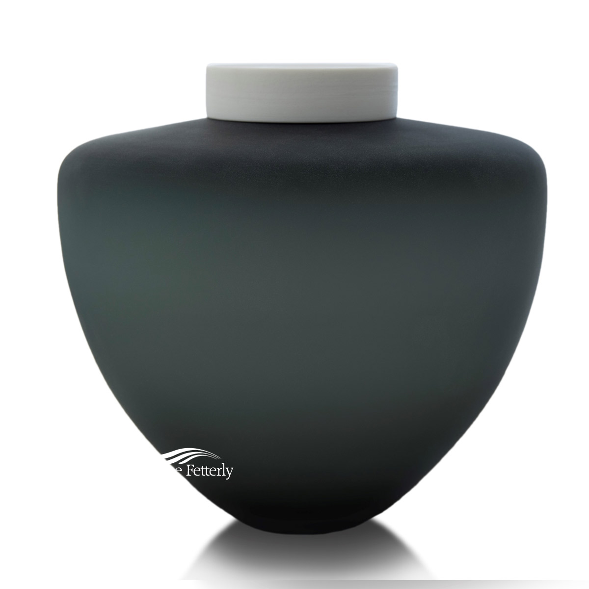 U8233 Grey blown glass urn