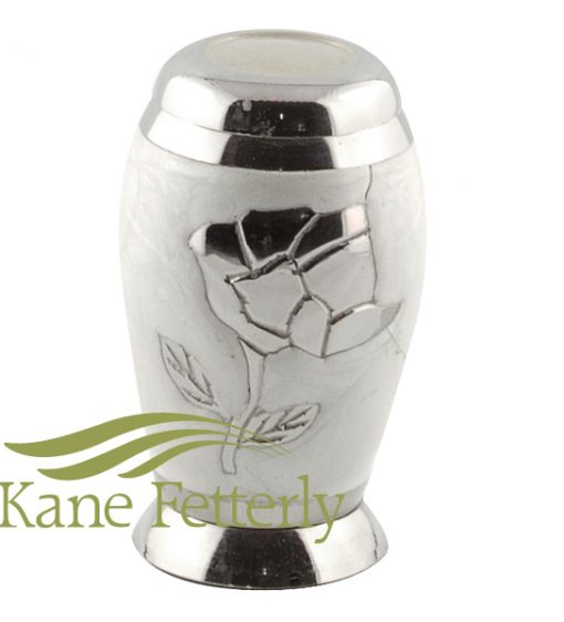 U8642K Miniature urn with rose