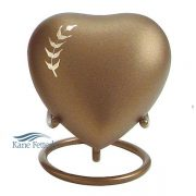 Heart miniature urn with wheat