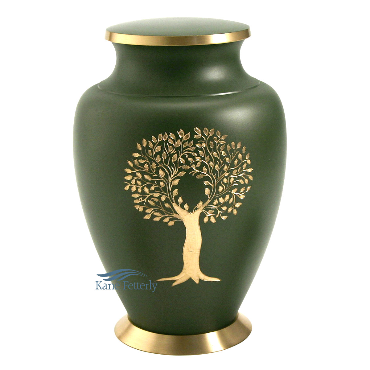 U86459 Brass urn with tree