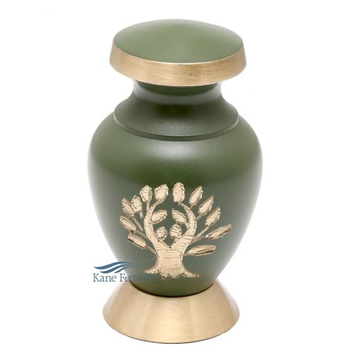 Miniature urn with tree