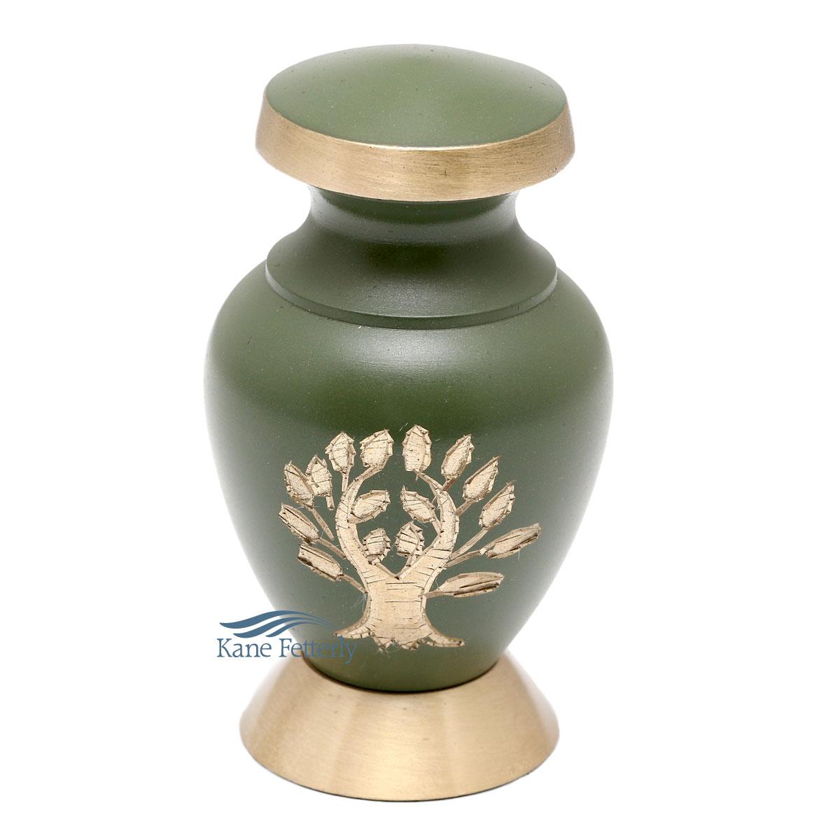 U86459K Brass miniature urn
