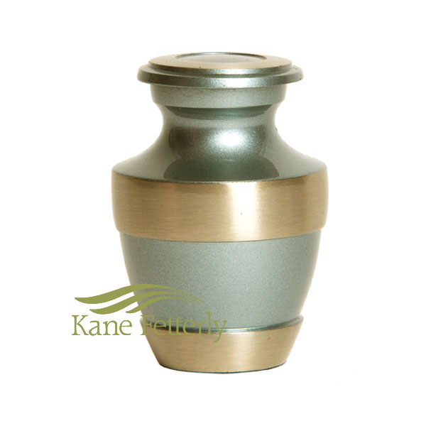 U86571K Pale green brass miniature urn