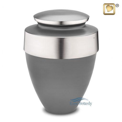 Dark grey brass urn