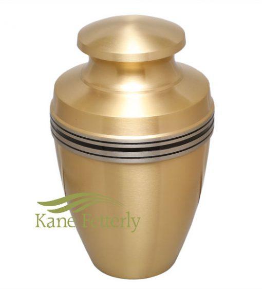 U86594 Brass gold urn