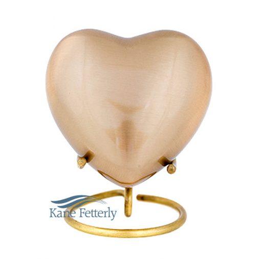 U86594H Gold heart miniature urn