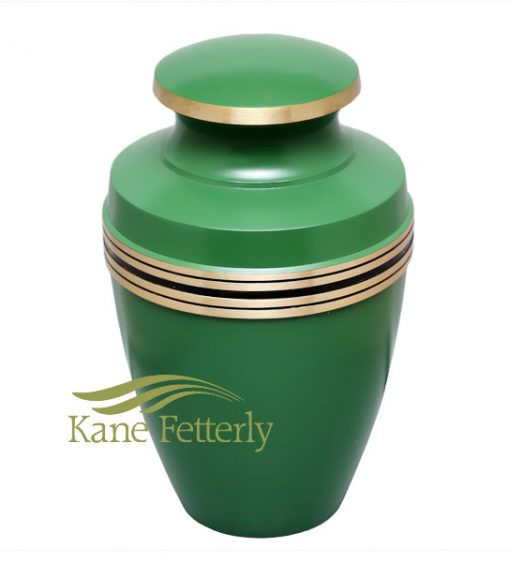 U86595 Urne en laiton de couleur verte
