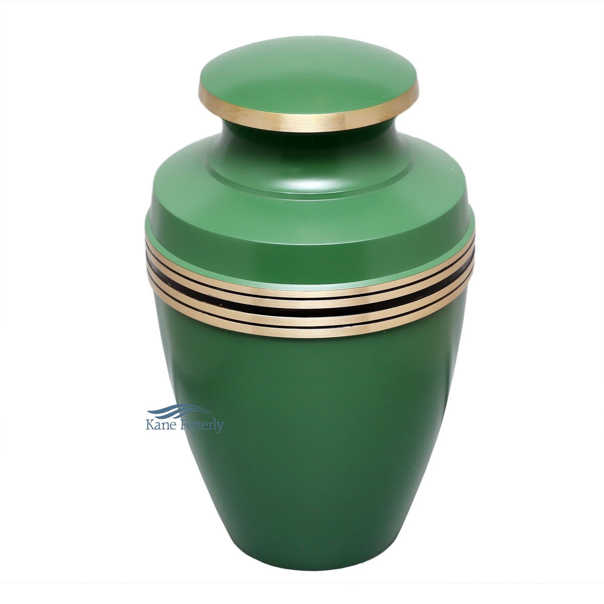 U86595 Green brass urn