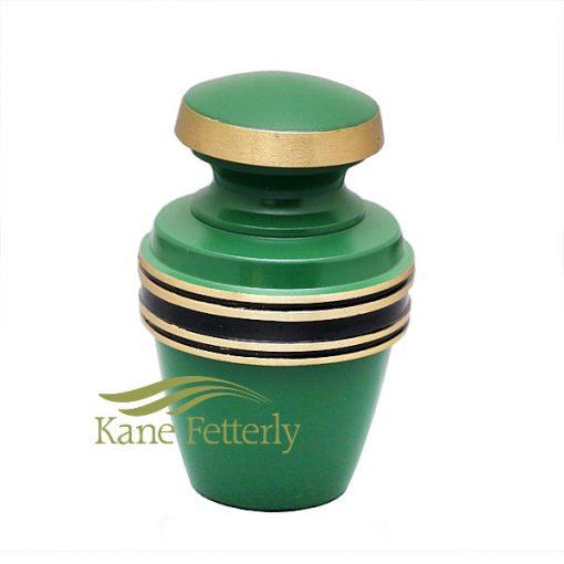 U86595K Irish green brass miniature urn