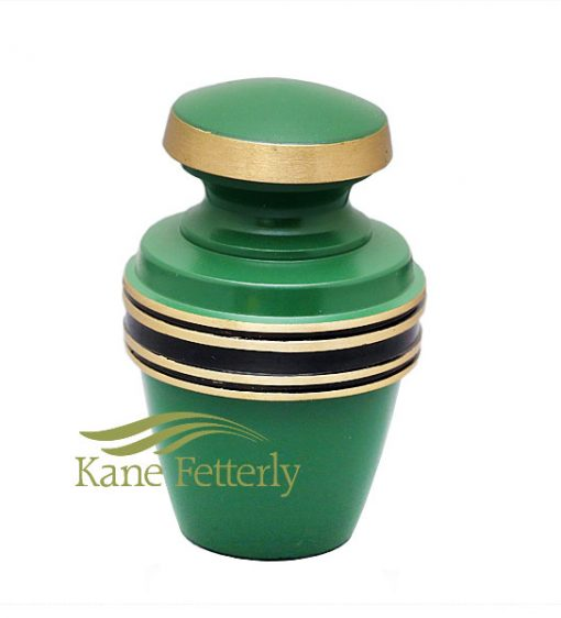 U86595K Irish green brass miniature urn