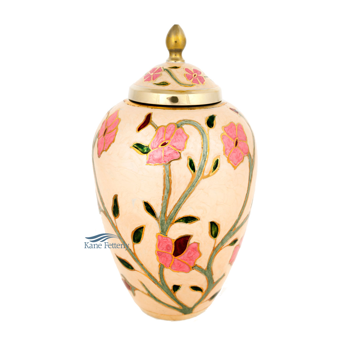 U8668 Brass urn with flowers
