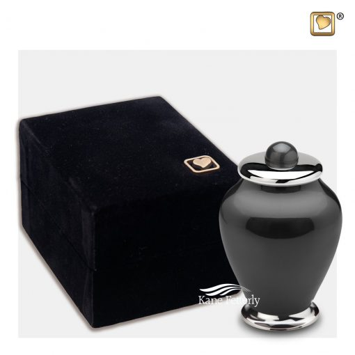 Miniature urn shown with box
