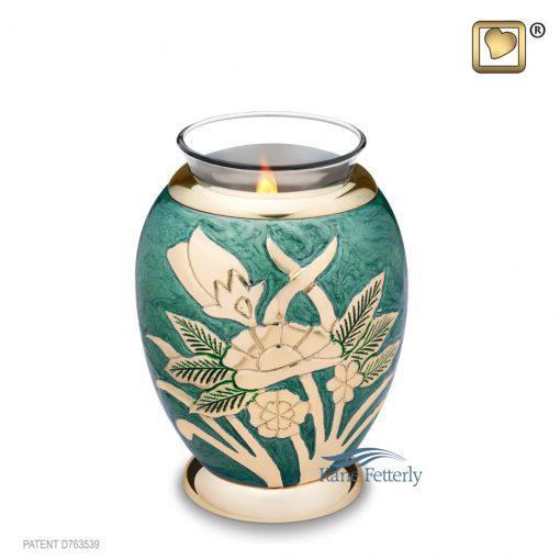 Tealight miniature keepsake urn