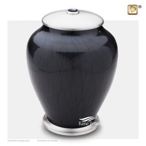 Brass urn with Swarovski® crystal