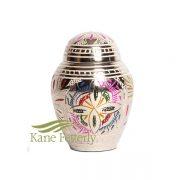 U8691K Urne miniature avec motif floral
