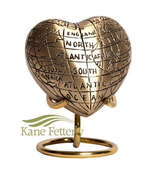 U8692H Heart miniature urn