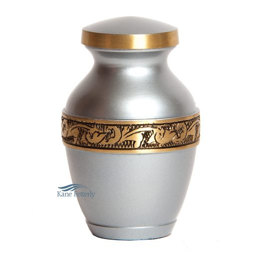 U8694K Brass miniature urn