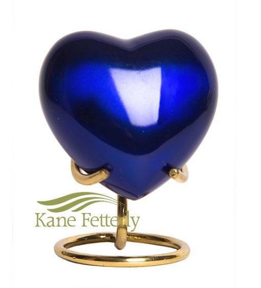 U8696H Blue heart miniature urn