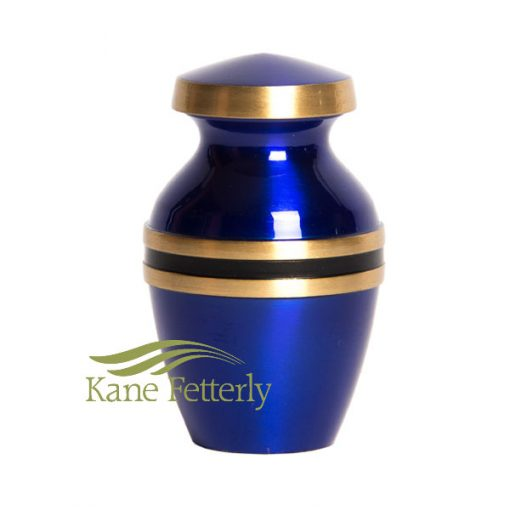 U8696K Blue brass miniature urn