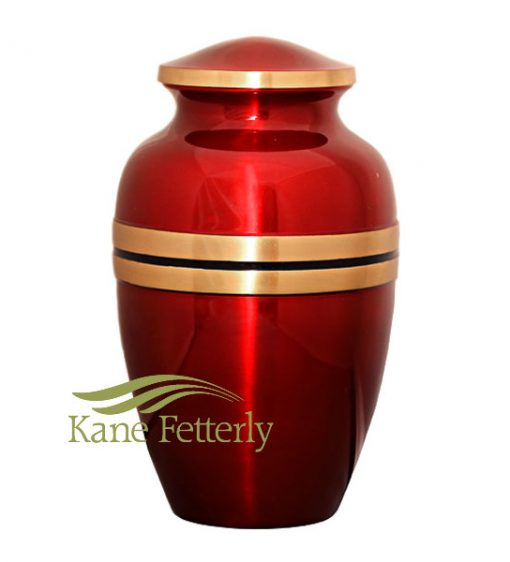U8697 Red brass urn