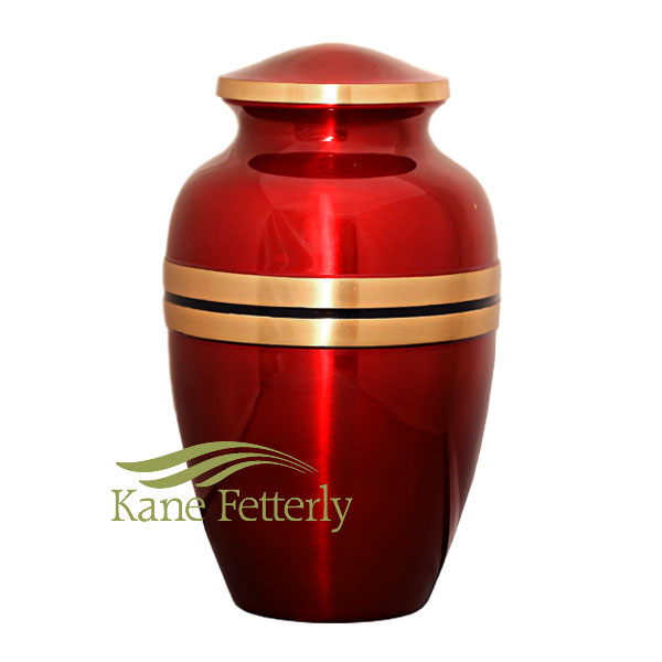 U8697 Red and gold urn